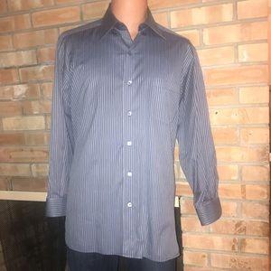 ERMENEGILDO ZENGA DRESS SHIRT MENS L LN!